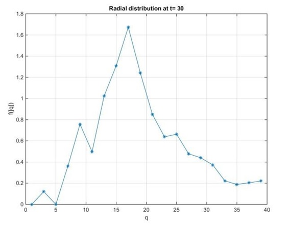 Radial Distribution at t30